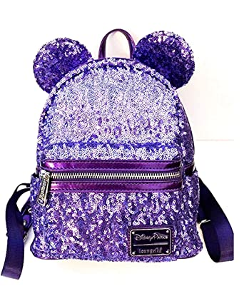 03a1c1ca4e2 Image Unavailable. Image not available for. Color  Disney x Loungefly  Potion Purple Sequin Mini Backpack