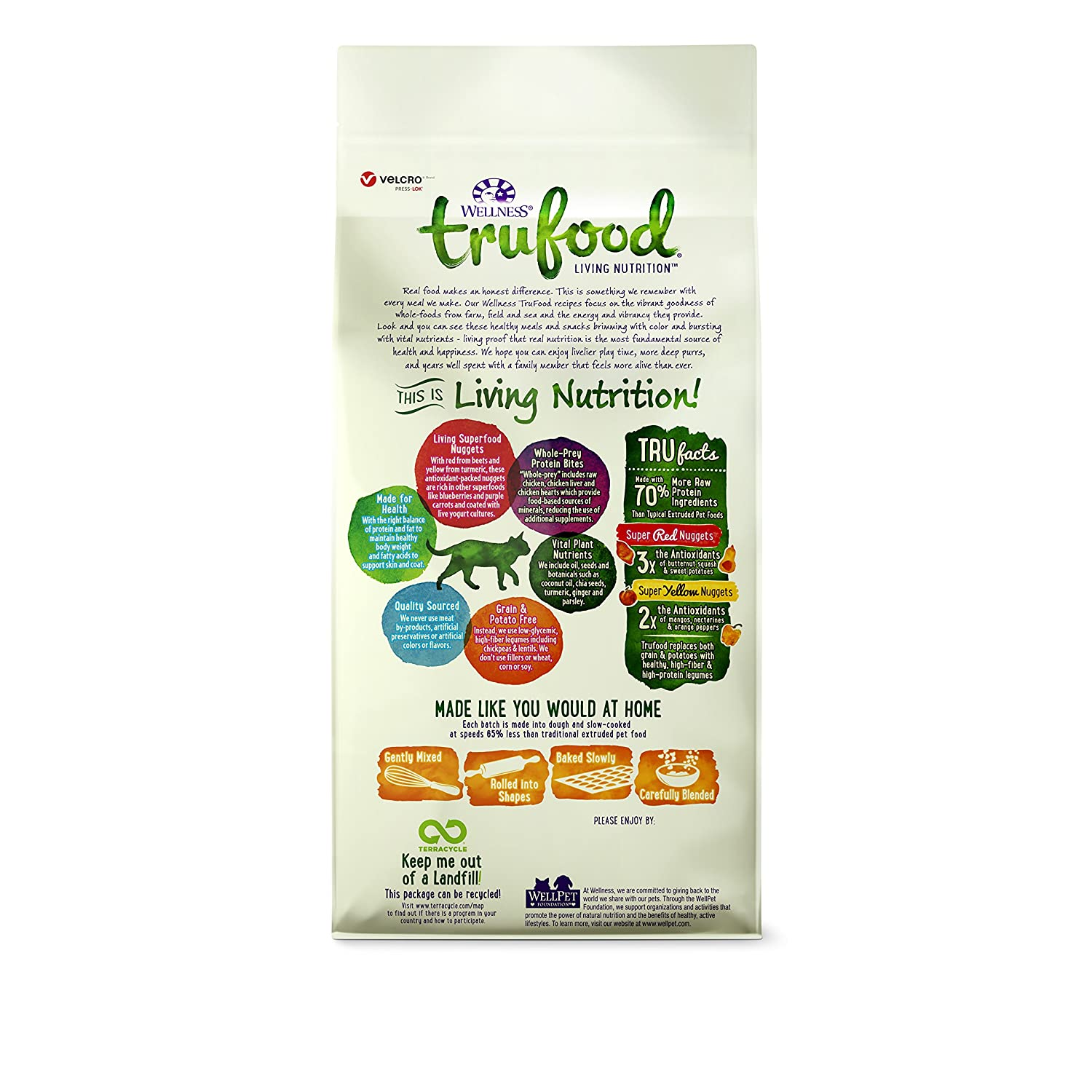 Wellness trufood baked blends natural grain free dry cat food wellness trufood baked blends natural grain free dry cat food chicken chicken liver and lentils recipe 2 pound bag pet supplies amazon forumfinder Images