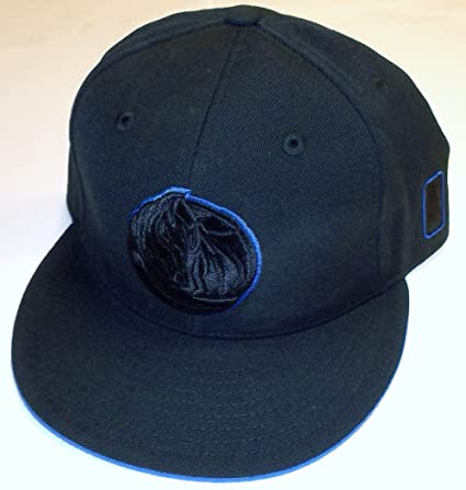 buy popular 5f176 f38df Image Unavailable. Image not available for. Color  Dallas Mavericks Flat  Brim Fitted Adidas Hat ...