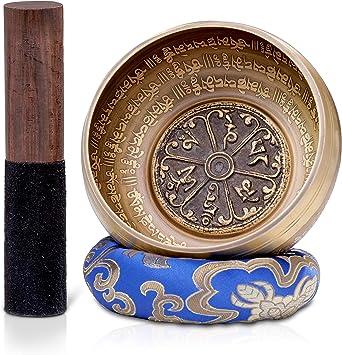 Amazon.com: Dhyana House Tazón tibetano para meditación con ...
