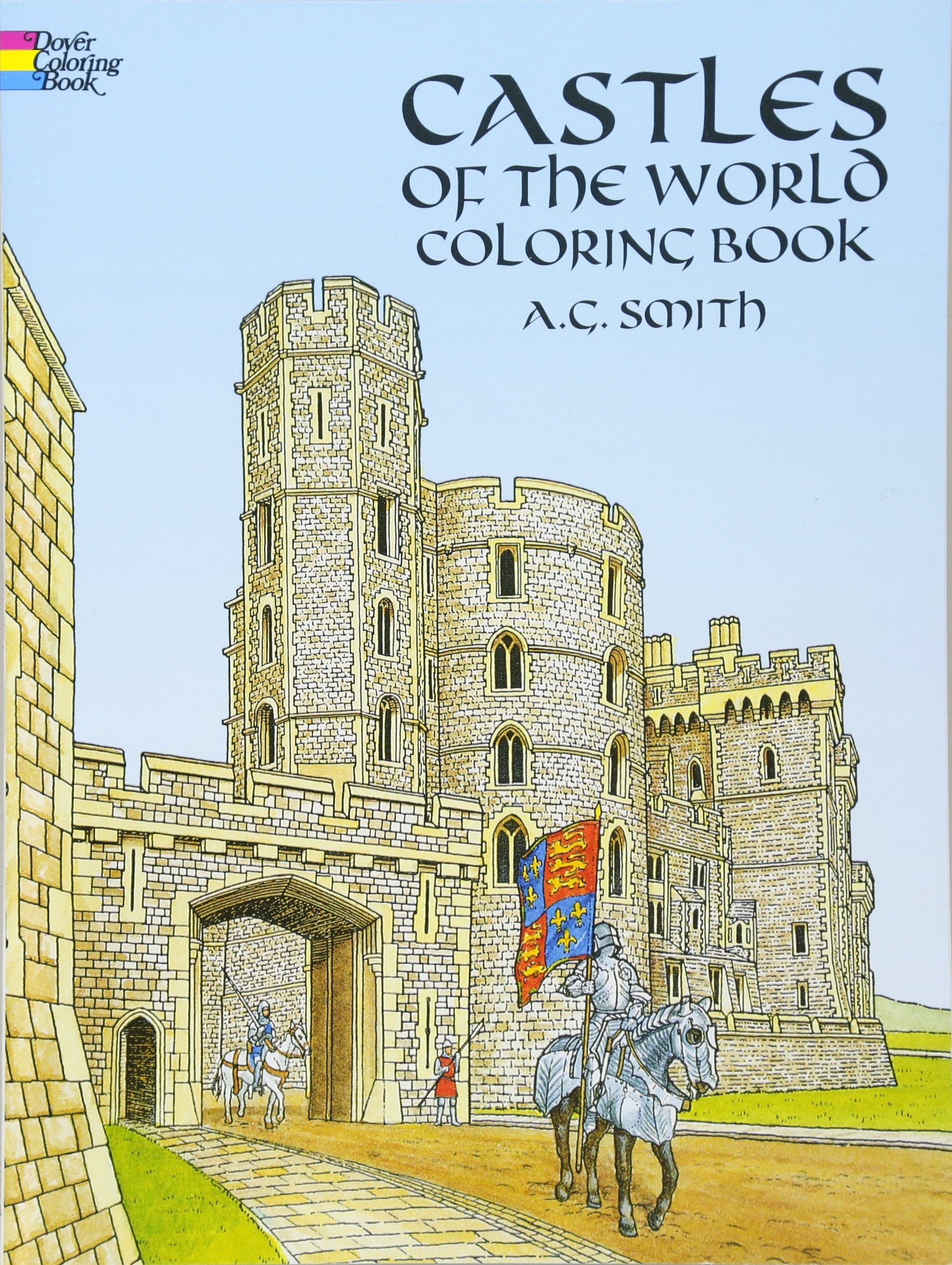 Castles World Coloring Dover History product image