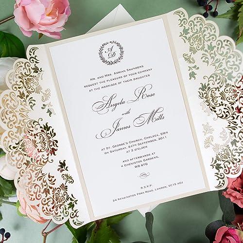 Partecipazioni Matrimonio A 0 50.50 Carte Confezione Fai Da Te Partecipazioni Matrimonio Taglio