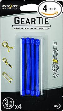 4-Pack Reusable Rubber Twist Ties Flexible Gear Tie