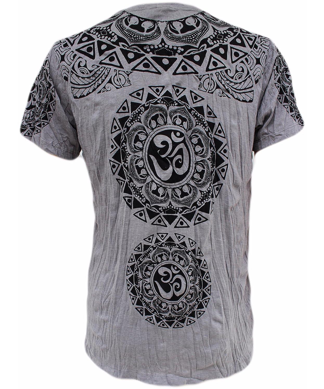 2f24db974ebad3 Yoga Shirts Men s Om Ganesha T-Shirt Hindu Elephant God Ganesh Tee For Men  (Silver