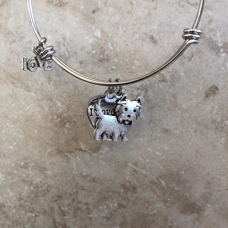 Westie Dog Expandable Dog Breed Bracelet for West Highland Terrier