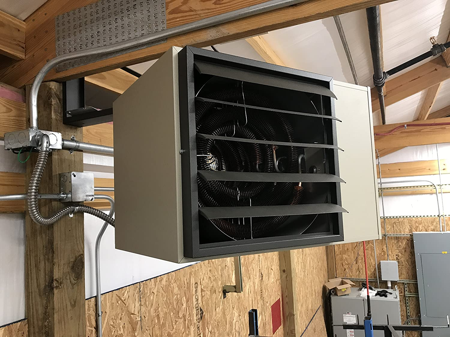 240 V Phase 1 TPI H1HUH05003 Series UH Horizontal Fan Forced Unit Heater Amps 20.8