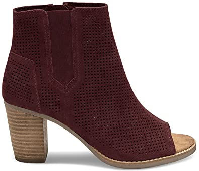 0e5a3b824b0 Image Unavailable. Image not available for. Color  TOMS Women s Majorca Peep  Toe Bootie ...