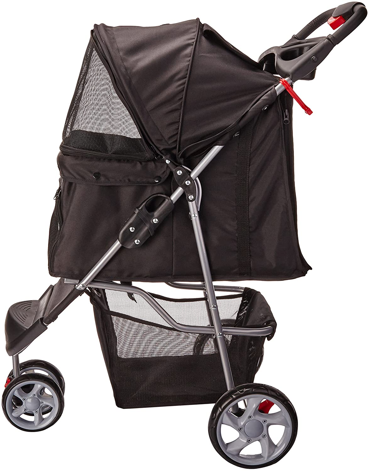 Paws & Pals 3 Wheeler Elite Jogger Pet Stroller, Onyx Black – Best Dog Stroller for Style