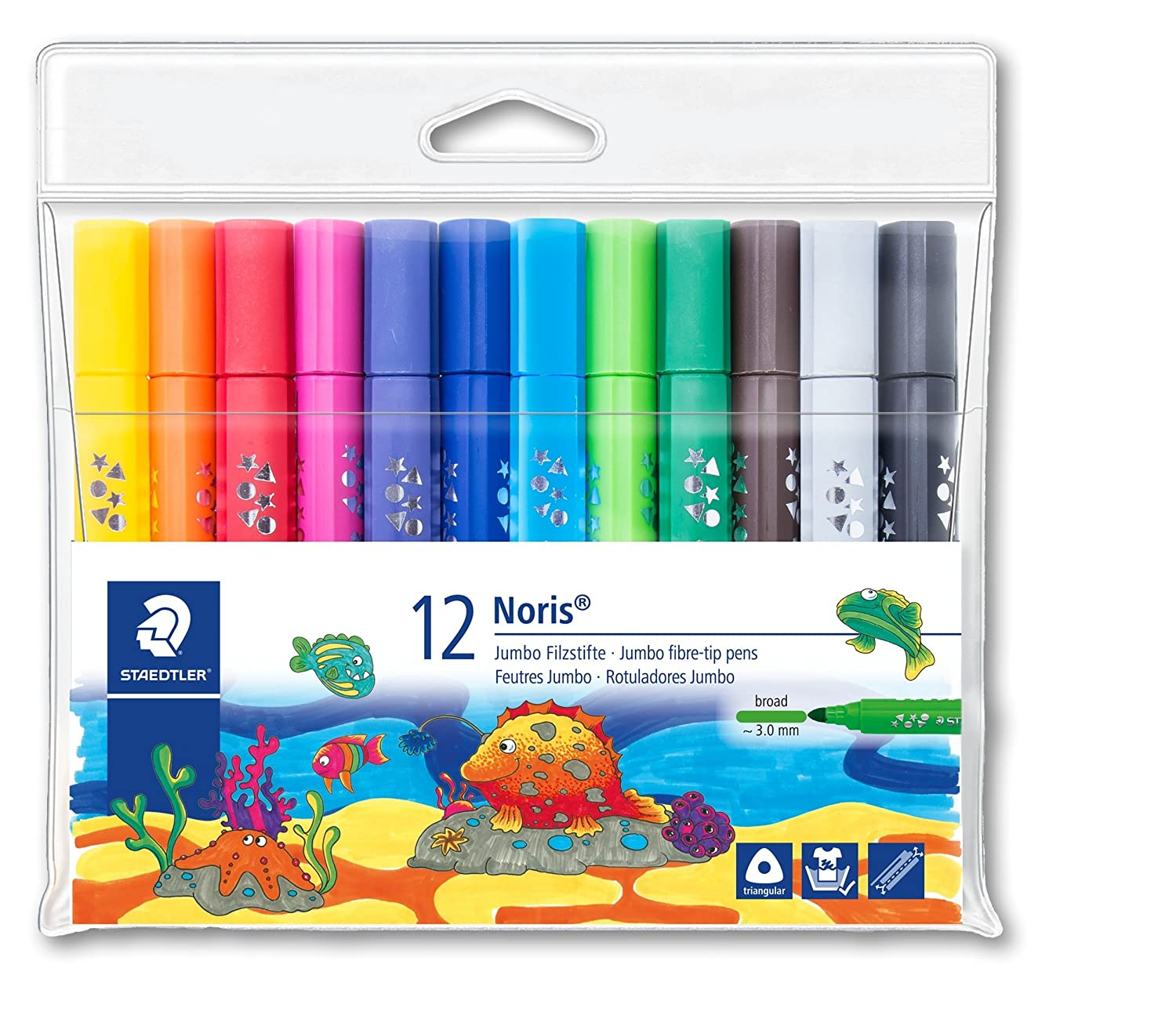 Staedtler 328-b WP12 Noris triangolare – Pennarello, colori assortiti STAEDTLER UK 328-B WP12ST
