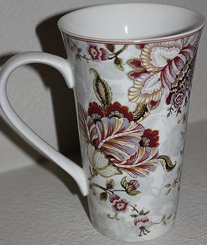 Amazon.com | 222 Fifth Gabrielle Cream Latte Mug - Approximately 6 1 ...