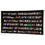 180 Lego Men/Legos/Mini Figures Minifigures/Display Case Cabinet - Lockable (Black Finish)