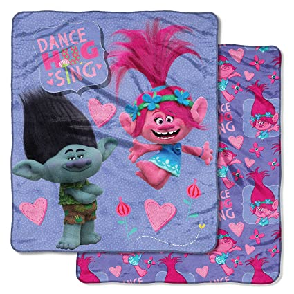 Image Unavailable. Image not available for. Color  DreamWorks Trolls   quot New Fun quot  Double-Sided Cloud Throw ... 8a5caecf9
