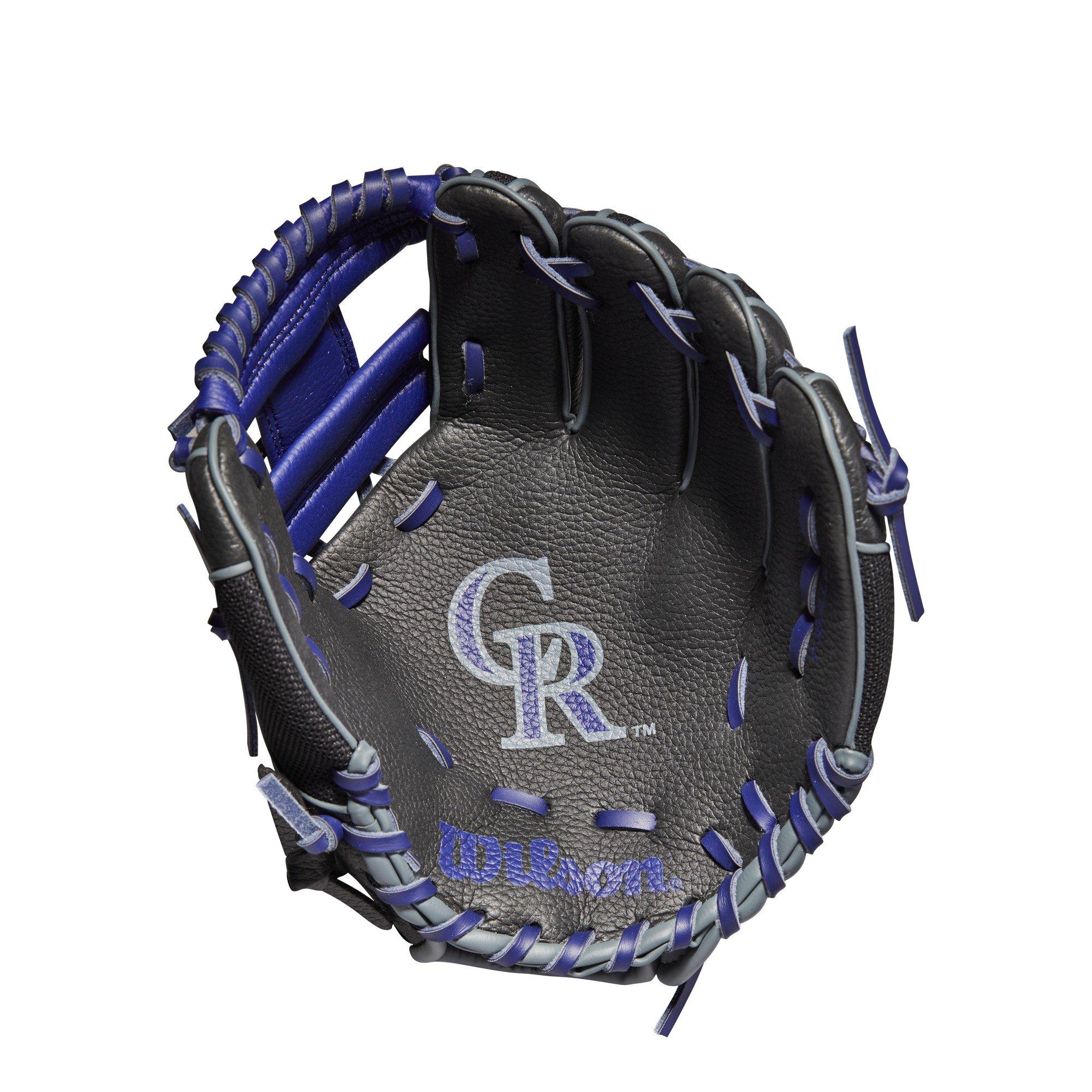 WilsonA200 Colorado Rockies 10'' Tee Ball Glove - Right Hand Throw