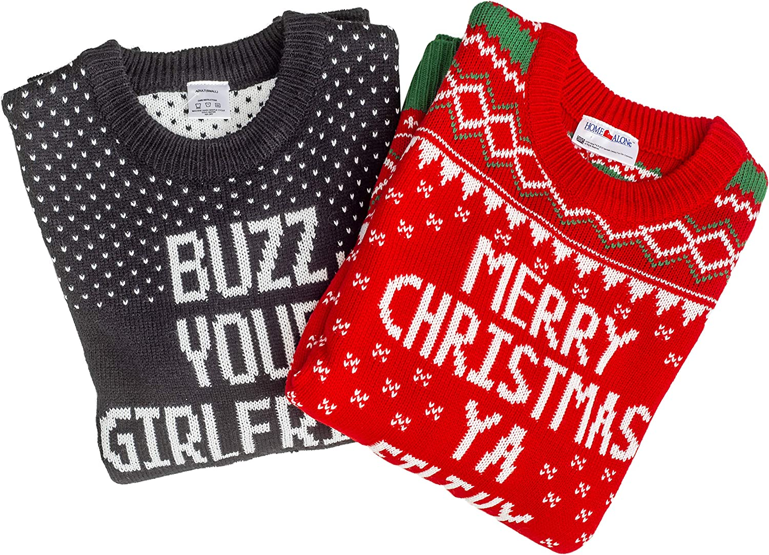 Home Alone Buzz Your Girlfriend Woof Ugly Christmas Sweater