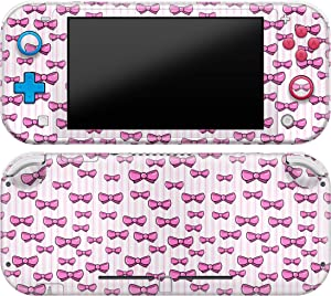 Cavka Vinyl Decals Skin for Switch Lite (2019) Sticker with Design Pink Girly Bows Print Cover Protector Wrap Durable Full Set Protection Faceplate Girs Cute Princess Lady Teen Bright Gentle