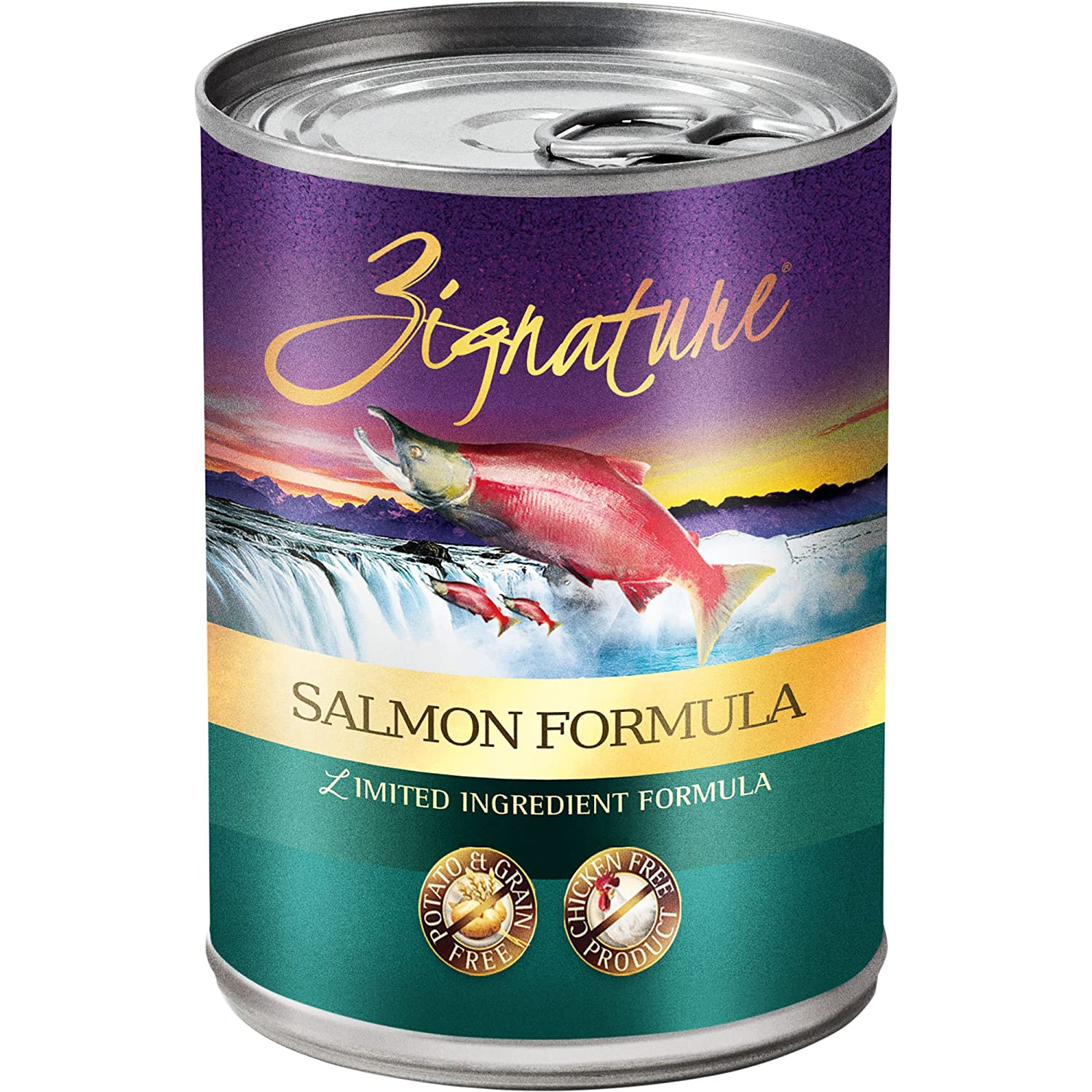 Zignature Salmon Formula Canned Dog Food (12 Pack), 13 oz low-cost