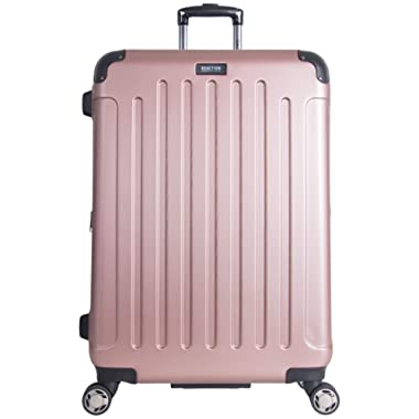 Kenneth Cole Reaction Renegade 28  Hardside Expandable 8-Wheel Spinner Checked Luggage, Rose Gold