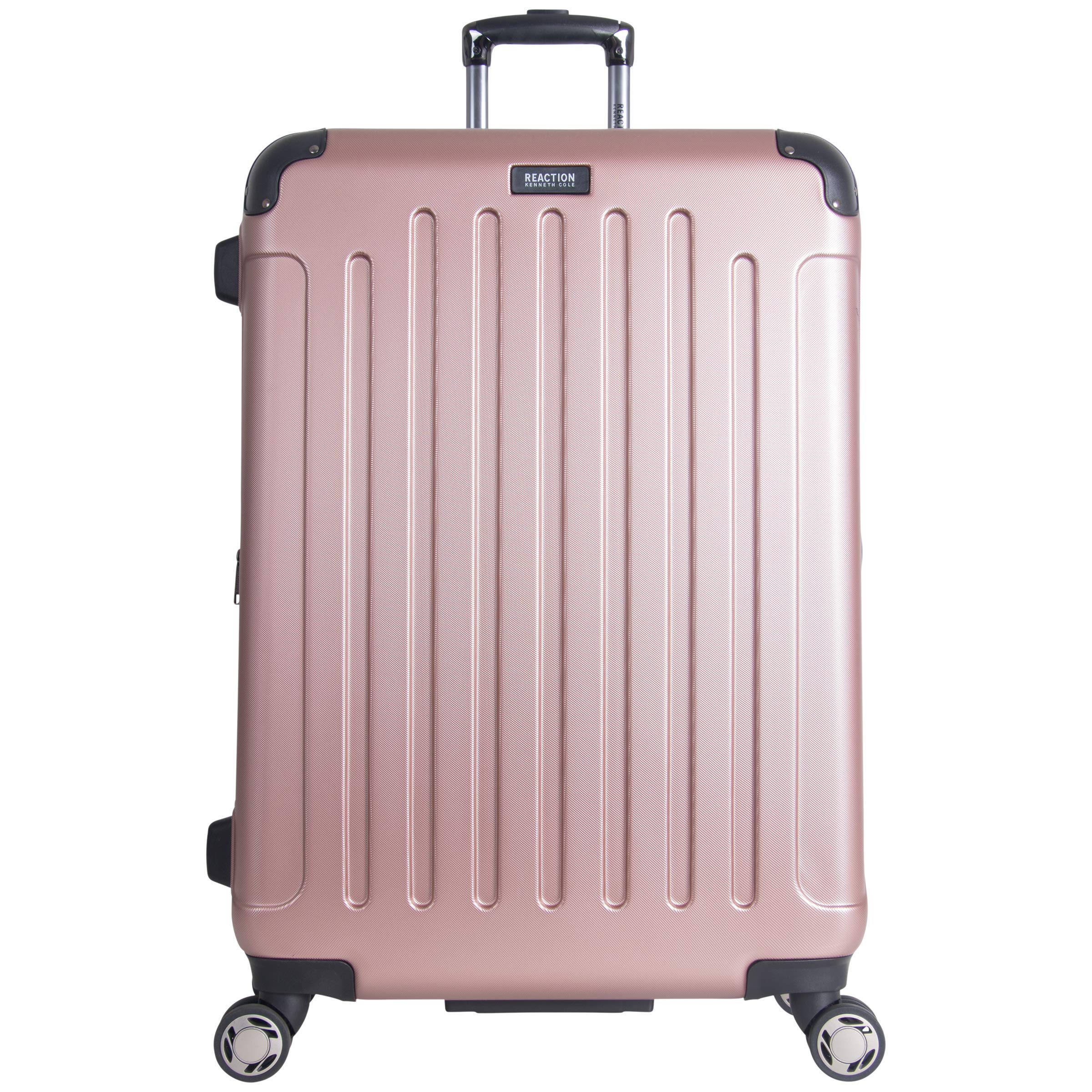Kenneth Cole Reaction Renegade 28'' Hardside Expandable 8-Wheel Spinner Checked Luggage, Rose Gold