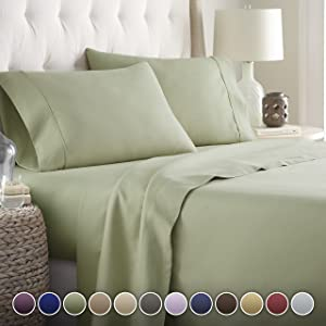 Hotel Luxury Bed Sheets Set Today! On Amazon Softest Bedding 1800 Series Platinum Collection-100%!Deep Pocket,Wrinkle & Fade Resistant (Cal King,Sage)