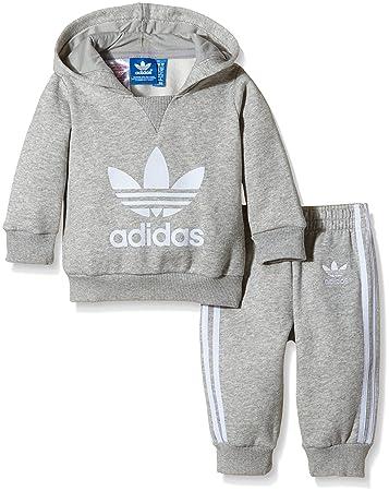 new lifestyle price reduced huge inventory adidas Baby Trainingsanzug Trefoil Set, Medium Grey Heather ...