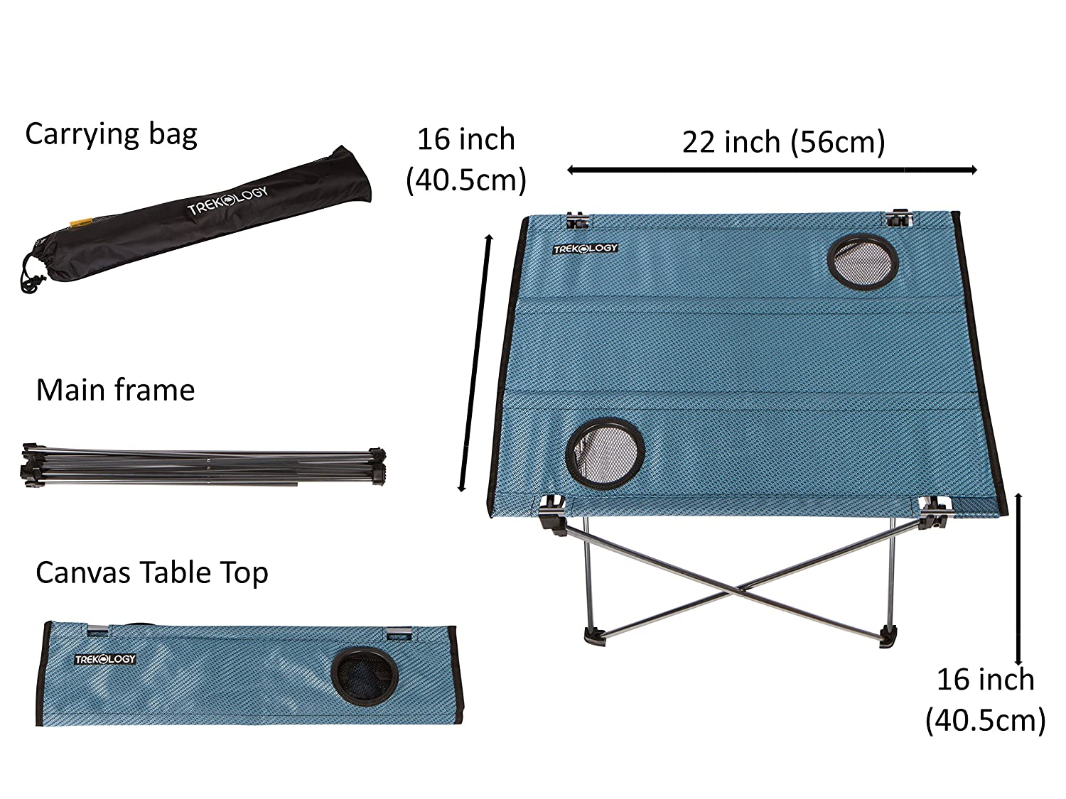 Beach Light Easy to Carry Camp Trekology Foldable Camping Picnic Tables Outdoor Small Portable Compact Lightweight Folding Roll-up Table in a Bag