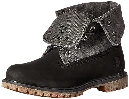 marketable diverse styles 50% price Timberland Women's Auth Canvas FD Boot, Black Nubuck/Grey ...