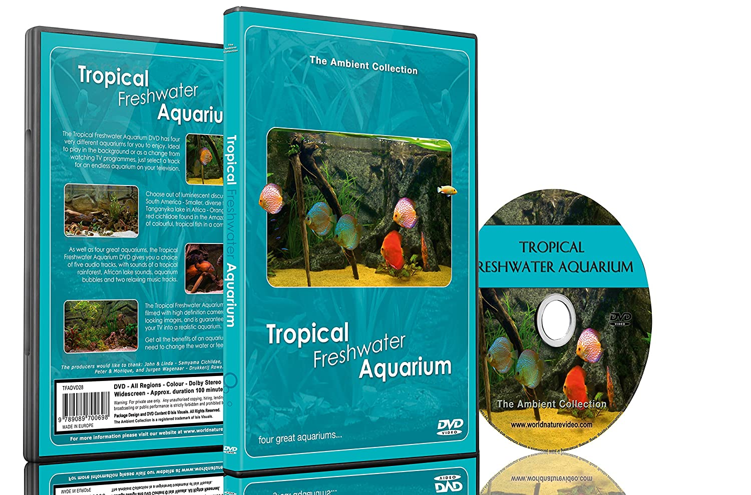 DVD de acuario - Acuarios tropicales de agua dulce - 100 minutos de HD Fishtanks con música y sonidos de la naturaleza: Amazon.es: The Ambient Collection, ...