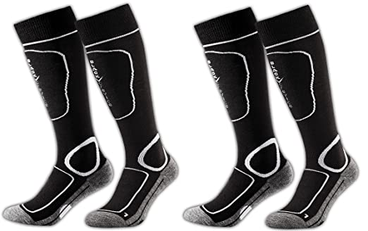 66 opinioni per Black Crevice- 2 paia di calze da sci, imbottite, 2 diversi volori, 3 misure