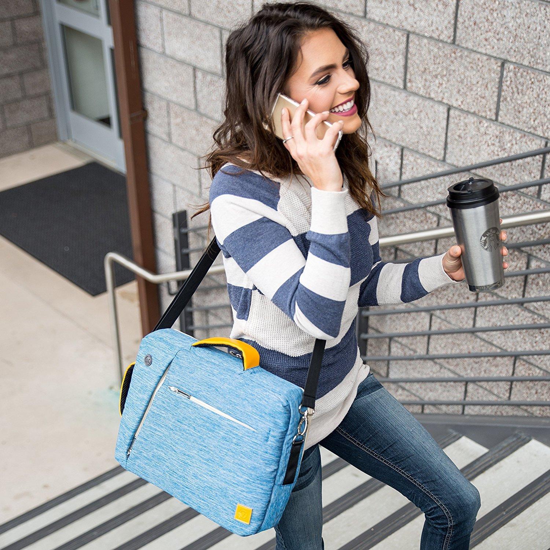Travel Laptop Bag Messenger Bag Tablet Sleeve Shoulder Bag 15.6-Inch for HP Envy / 15z / Omen / ProBook / EliteBook / Zbook / Spectre x360 (Blue)