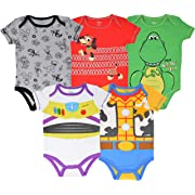 Disney Pixar Toy Story Baby Boy 5 Pack Bodysuit Buzz Lightyear Woody Rex Slinky Dog 3-6M
