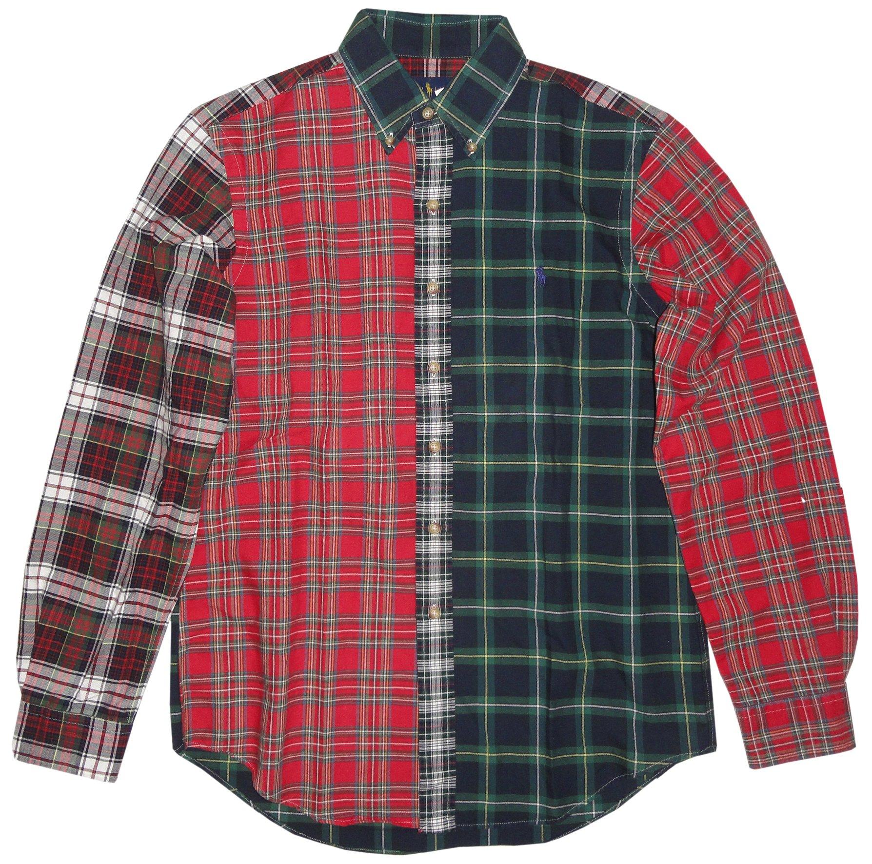 Polo Ralph Lauren Men's L/S Plaid Button Down Shirt-Tartan Mix-XL