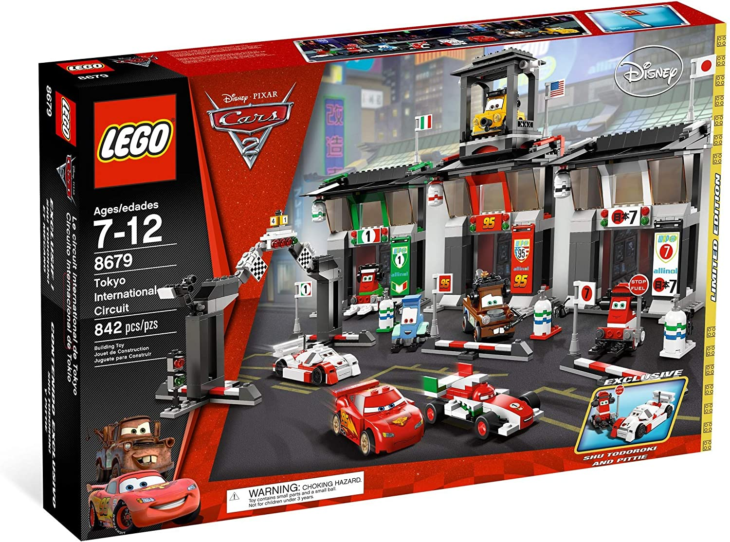 Lego Disney Pixar Cars 2 Limited Edition Tokyo International Circuit 8679 Amazon Co Uk Toys Games
