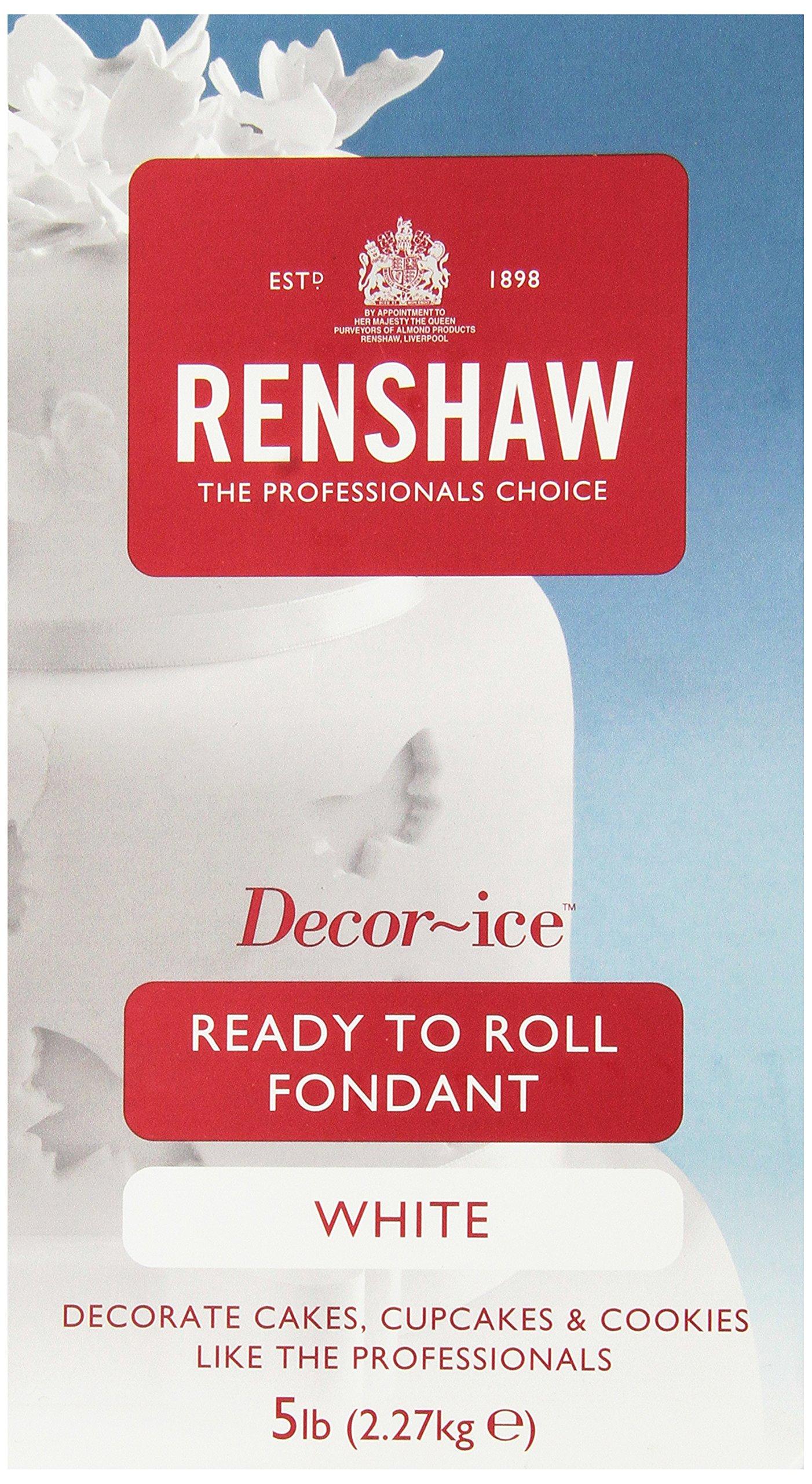 Renshaw White Fondant Icing, 5 Pound