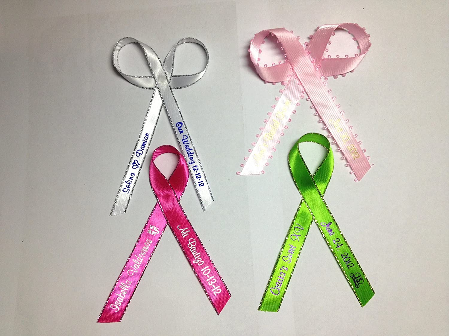 Amazon.com: 100 Personalized Printed Ribbon 1/4\