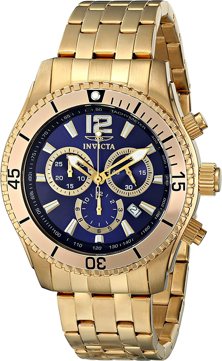 Invicta Men s II Collection Chronograph 18k Gold-Plated Stainless Steel Watch
