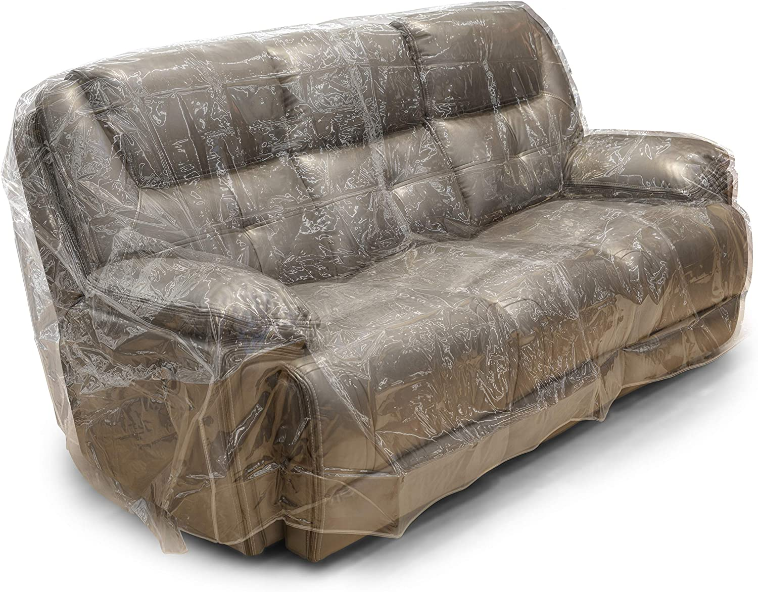 Besti Plastic Couch Cover for Pets - Clear Slipcovers for Big Sofas - Dust, Water, Dirt Furniture, Upholstery Protectors for Home, Living Room - Dog and Cat Scratch, Pee and Sit Deterrent - 96x42x40: Kitchen & Dining