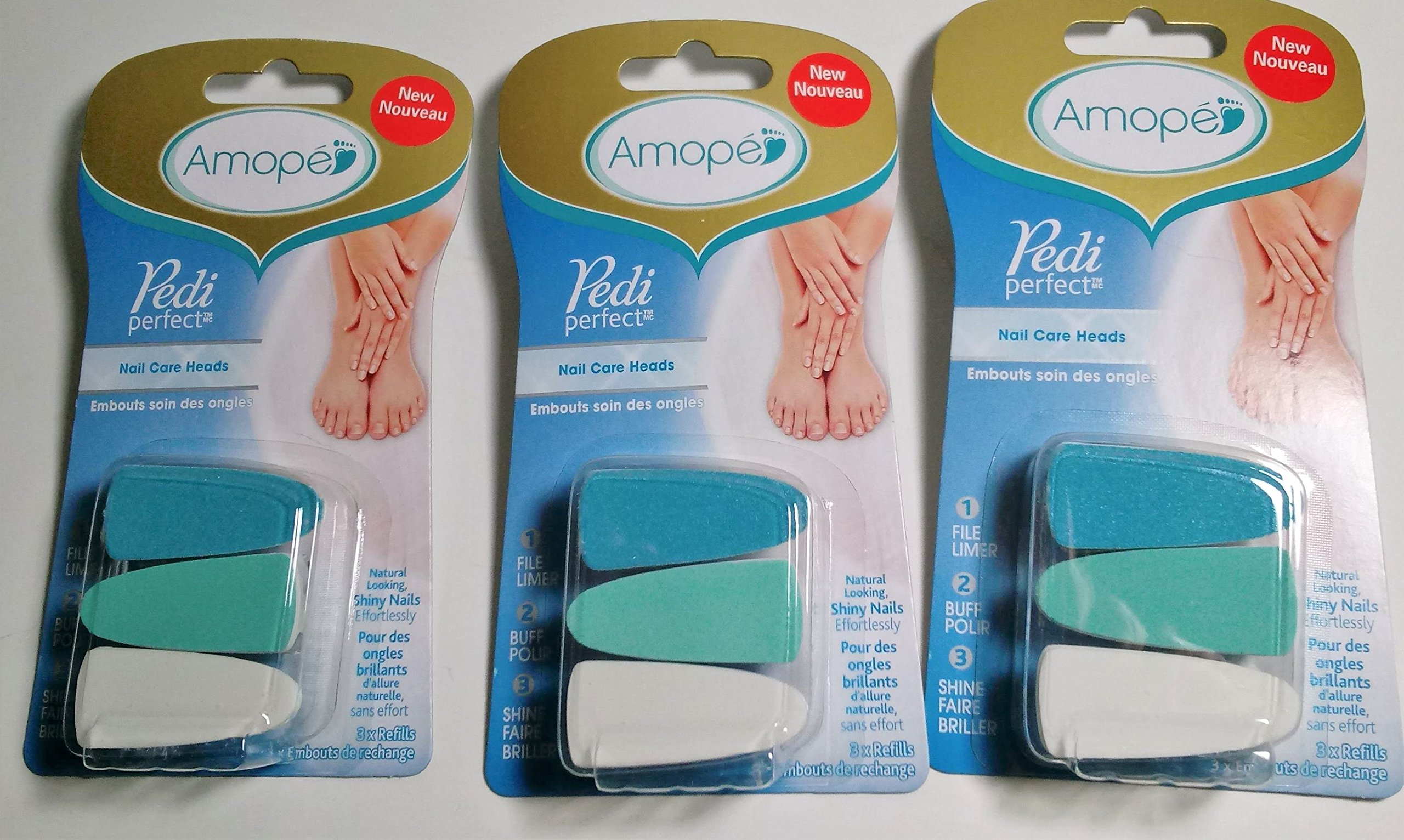 Amopé Pedi Perfect Electronic Nail File Refills, 3 Count, (Pack Of 3)