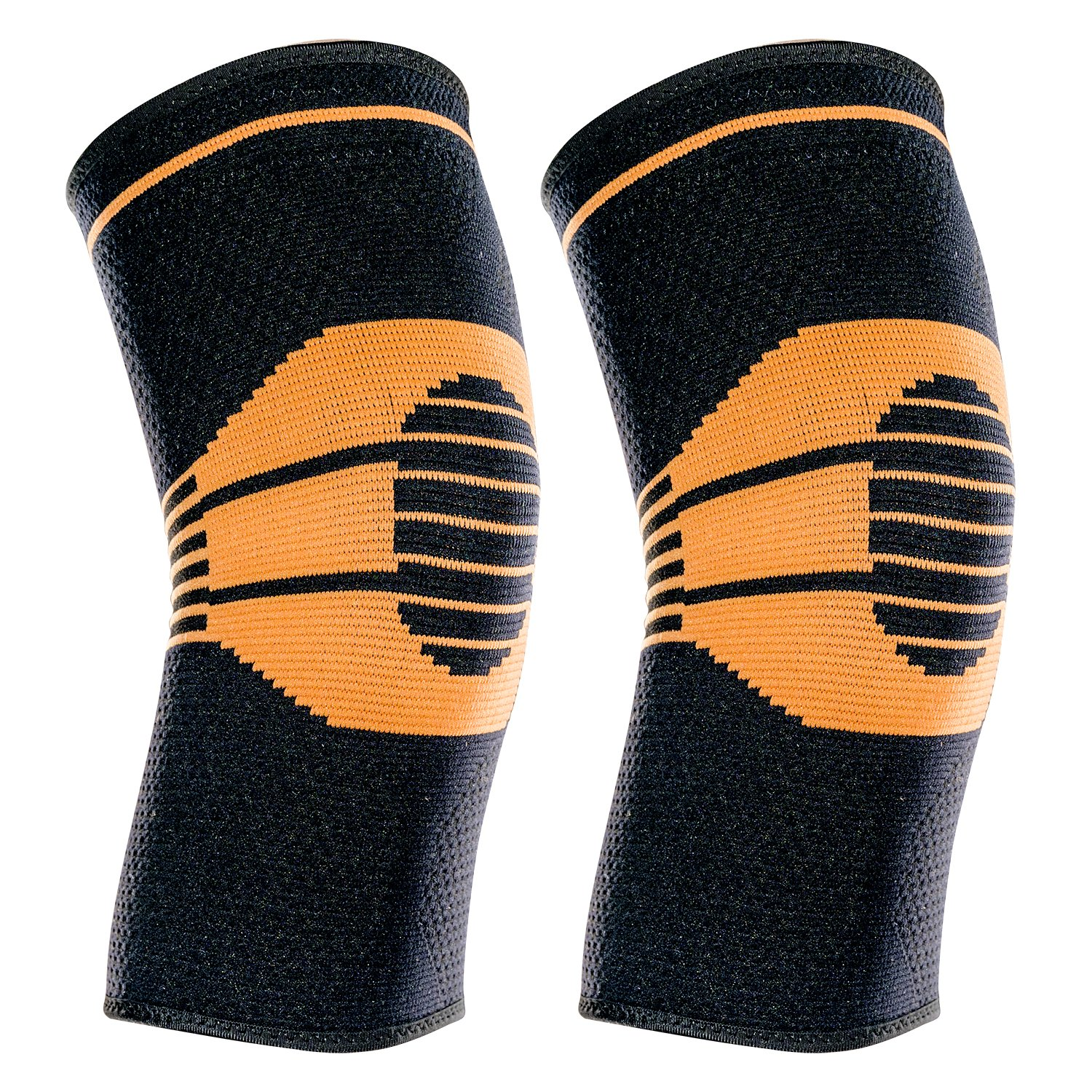 Sports Meniscus Tear ACL O-Best Compression Knee Sleeves,2 Pack Knee Brace Support for Running Arthritis Joint Pain Relief and Injury Recovery