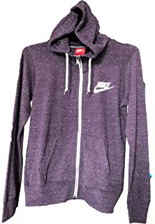 ebcc582e93 Amazon.com  Nike Womens Gym Classic Full Zip Hoodie Black Heather ...