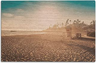 product image for Laguna Beach, California -Sandy Beach- Photography A-92958 (10x15 Wood Wall Sign, Wall Decor Ready to Hang)