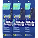 30-Count Gillette Sensor2 Plus Pivot Men's Disposable Razor