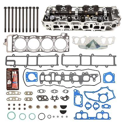 Evergreen CHHSHB2000 Fits 85-95 Toyota 2 4 SOHC 22R 22RE 22REC Cylinder  Head w/Gasket Set Head Bolts