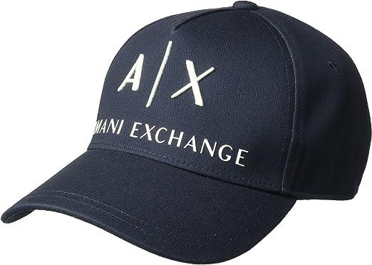 Armani Exchange Corp Logo Baseball Cap Gorra de béisbol, Azul ...