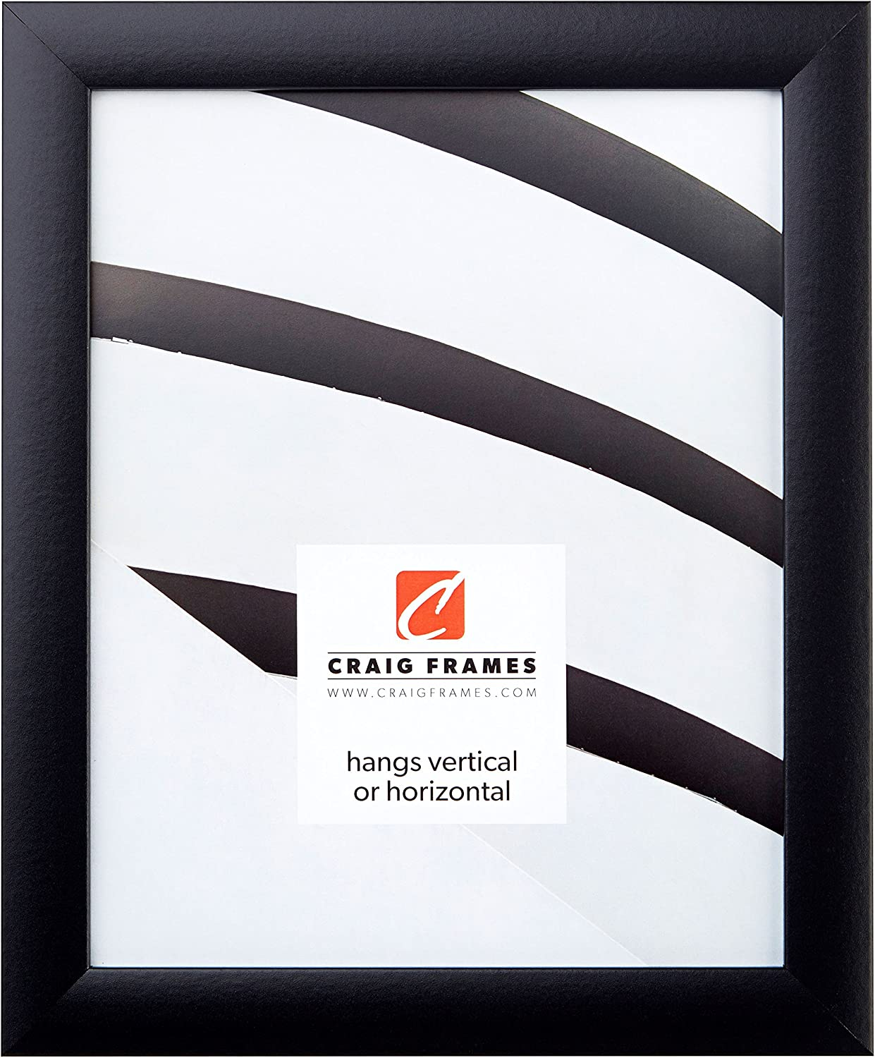 Craig Frames 1WB3BK 13 by 19 Inch Picture Frame, Smooth Wrap Finish, 1 Inch Wide, Black