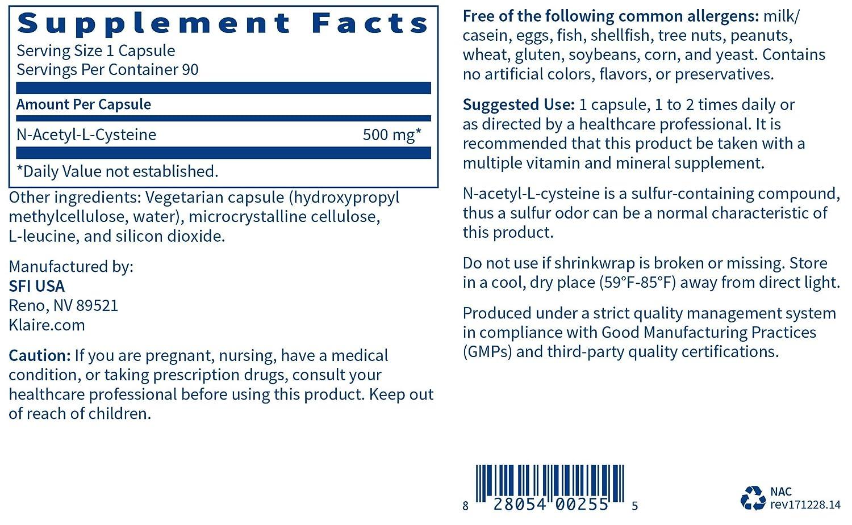 Amazon.com: Prothera Nac (n-acetyl-l-cysteine) 90 Cápsulas ...