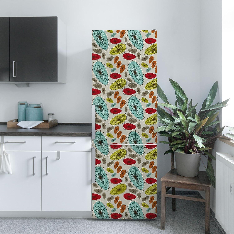 Pellicola adesiva - Abstract retro floral pattern, carta adesiva per ...