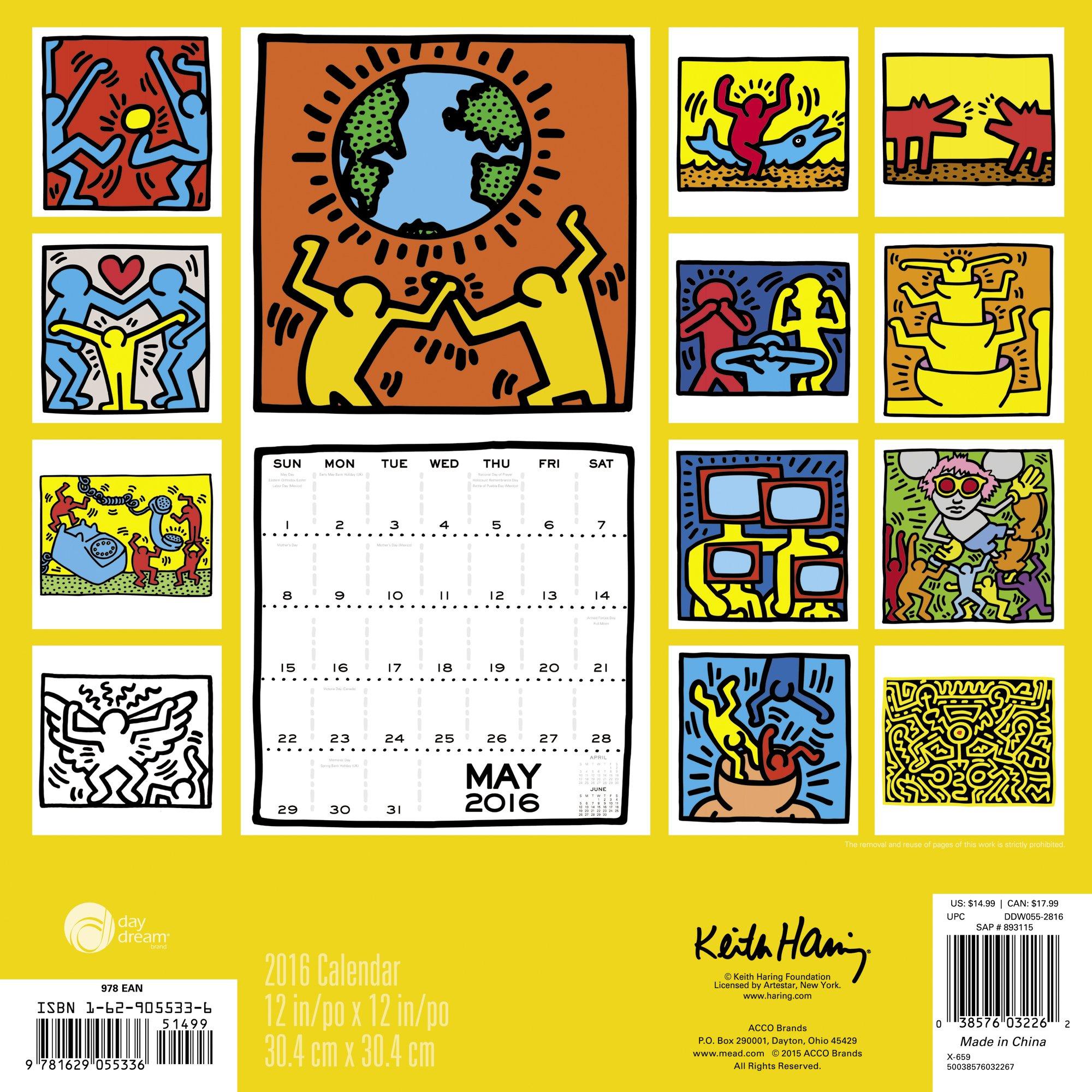 Keith Haring Wall Calendar (2016): Day Dream: 0038576032262: Amazon ...