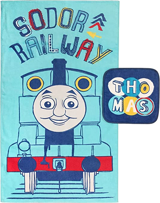 Thomas /& Friends-Thomas And Friends Towel With Washcloth Bath Set 2 Pieces