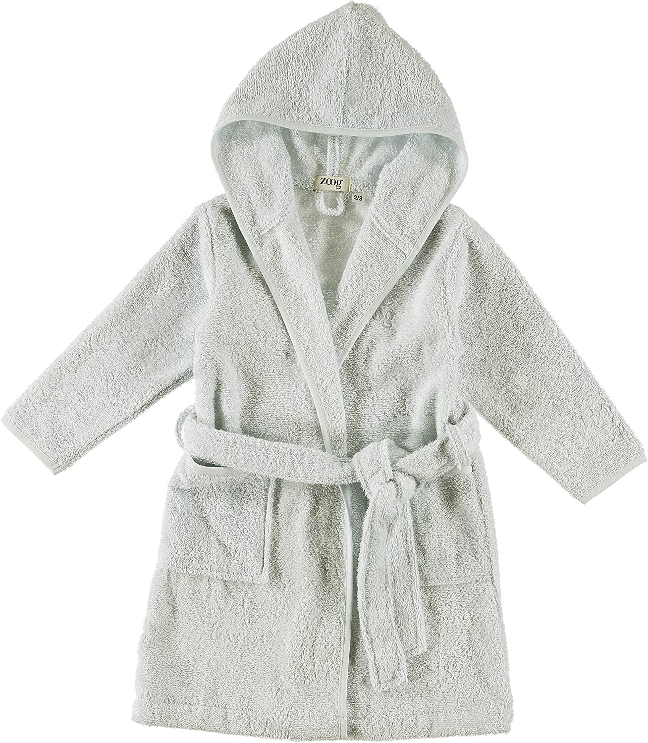 Zoog Organic Cotton Hooded Baby Bath Robe Natural Dye Premium Quality GOTS Certified Non-Chemical Non-Toxic 100% Vegan Soft Comfortable Green (2-3 Years, Green)