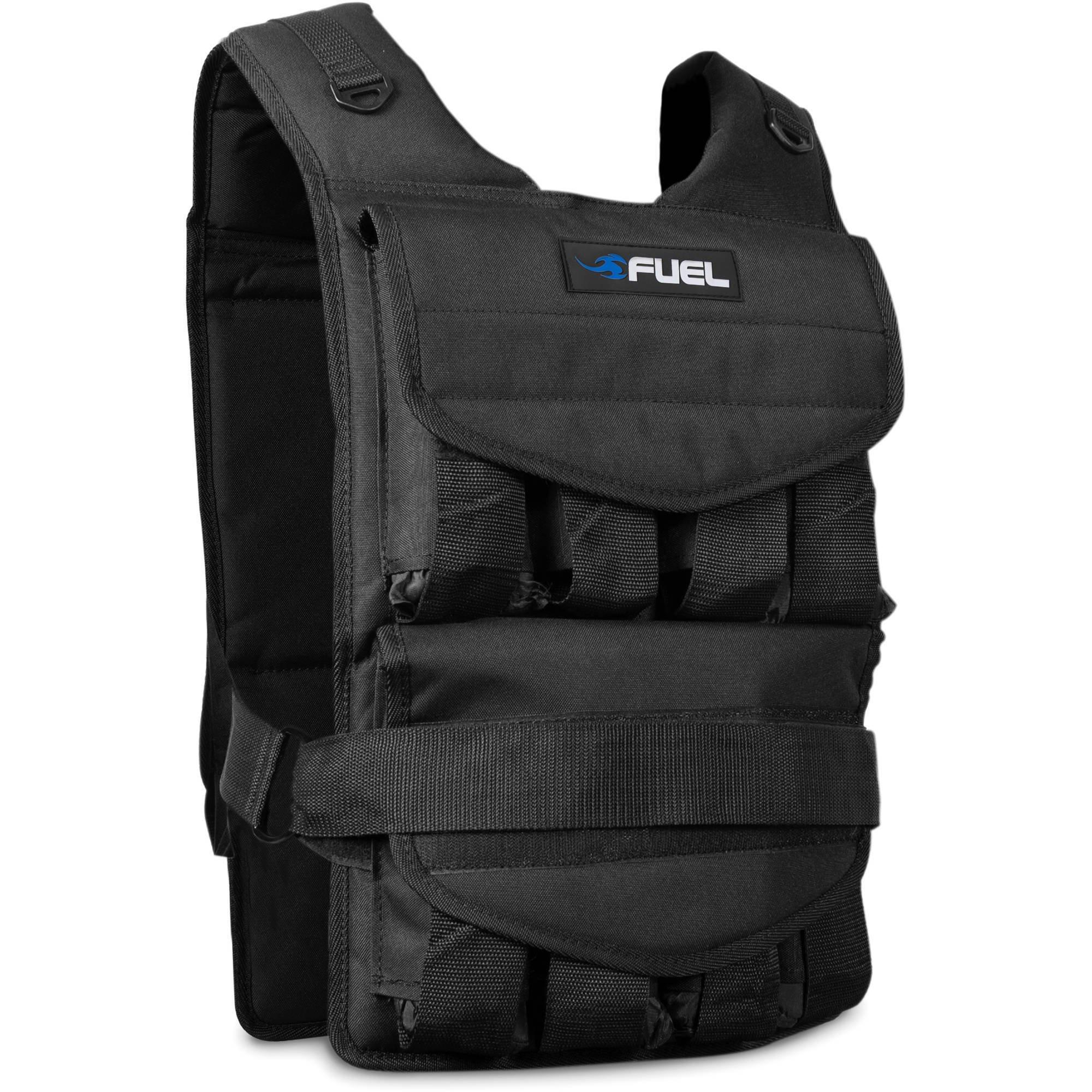 Fuel Pureformance Adjustable Weighted Vest 70 lbs Black HHWV-FL070